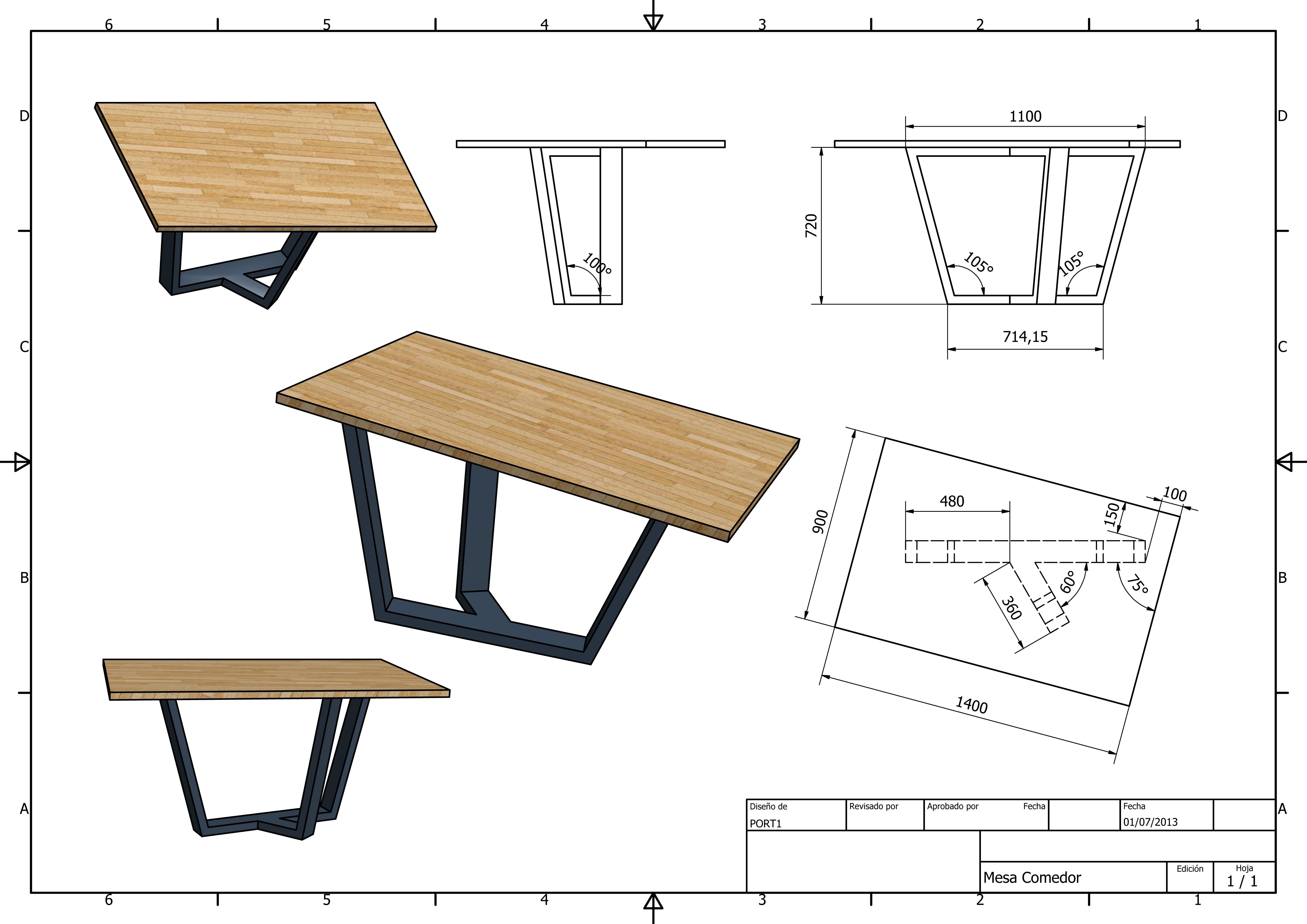 Medidas de mesas de comedor gallery of medidas silla diva for Las medidas de una casa xavier fonseca pdf gratis