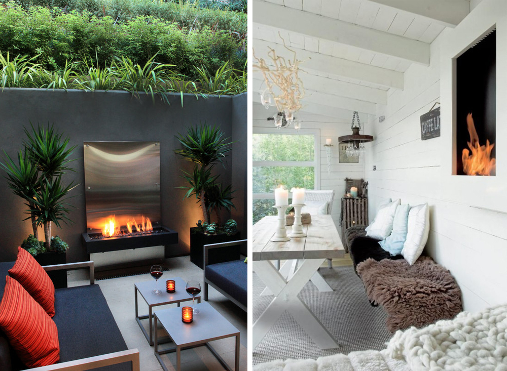 Aprovecha tu terraza tambi n en invierno rutchicote - Chimeneas de pared modernas ...