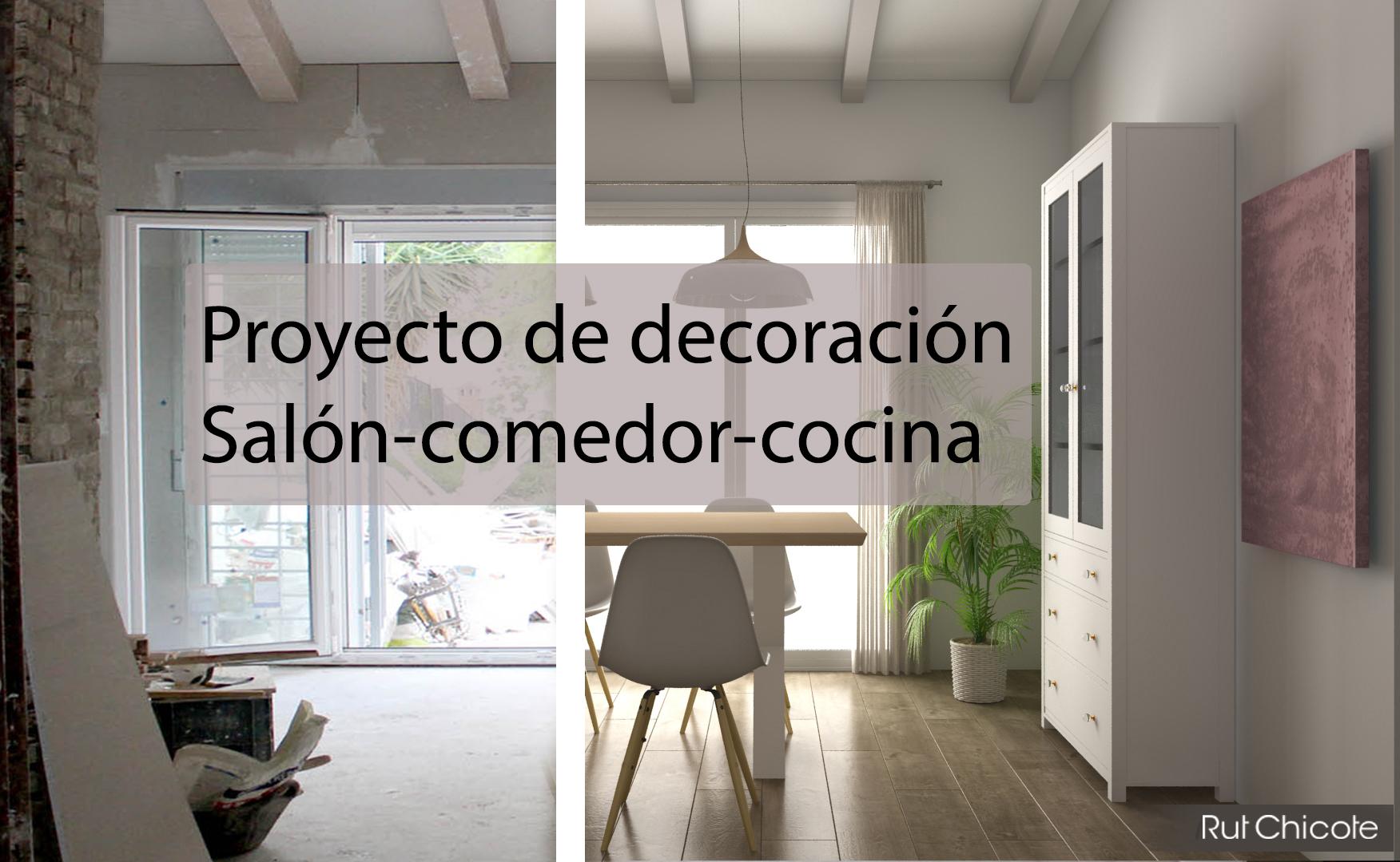 Proyecto de decoración; Salón-comedor-cocina - rutchicote