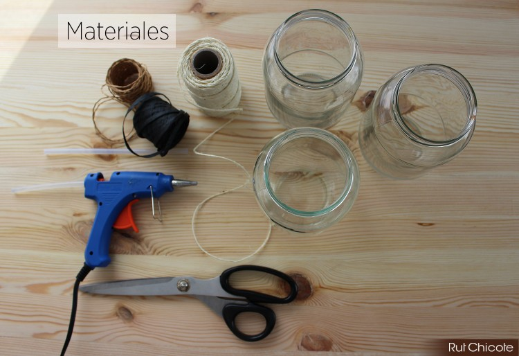 Materiales-diy-botes-decorados-con-macrame