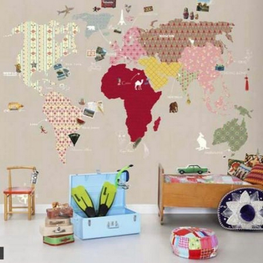 Decorar paredes con mapas - rutchicote